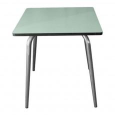 Table Vera 70x70 cm pieds bruts - Vert menthe Vert amande
