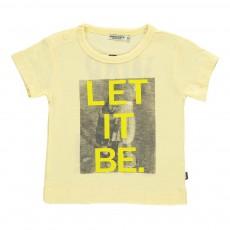 T-Shirt Coton Bio Let It Be Jaune pâle