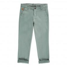 Pantalon Chino Vert de gris