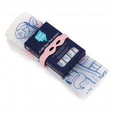 Set de table à colorier avec 5 feutres et bracelet Arbre magique Rose
