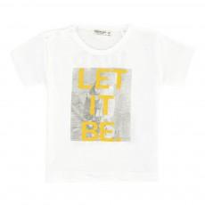T-Shirt Coton Bio Let It Be Blanc