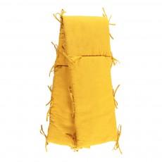 Tour de lit ouatiné en gaze de coton Jaune moutarde