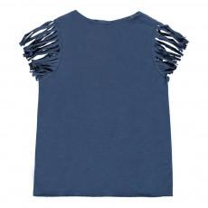 T-Shirt Franges Colline Bleu indigo