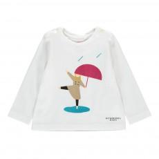 T-Shirt Personnage Girl Trench Bébé Blanc