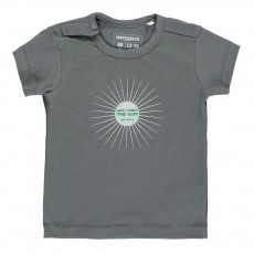 T-Shirt Coton Bio Here Comes The Sun Gris anthracite