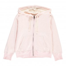 Sweat Capuche Chiné Rose pâle