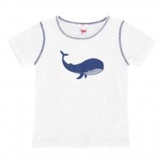 T-Shirt Baleine Blanc