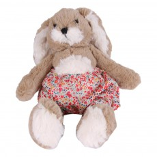 Peluches Lapin Fleurs Rouge