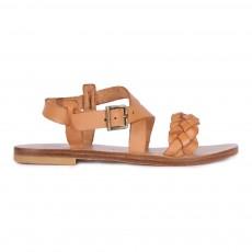 Sandales Tressées Caramel