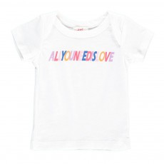 """T-Shirt """"All You Need Is Love"""" Blanc"""