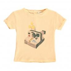 T-shirt Polaroid Bébé Rose pêche