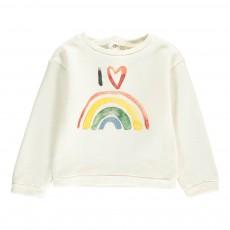 Sweat Rainbow Bébé Ecru