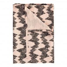 Lange montagne 60x60 cm en gaze de coton éco labellisé avec attache Rose poudré
