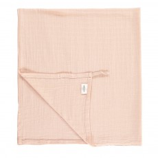 Lange-plaid 120x120 cm avec attache Rose poudré