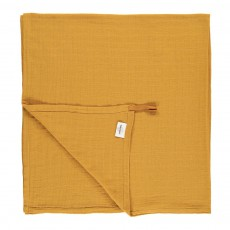 Lange-plaid 120x120 cm avec attache Jaune