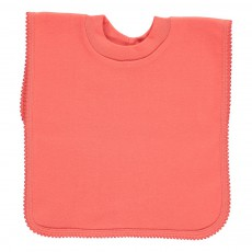 Bavoir encolure t-shirt Corail