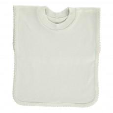 Bavoir encolure t-shirt en jersey de coton Vert pâle