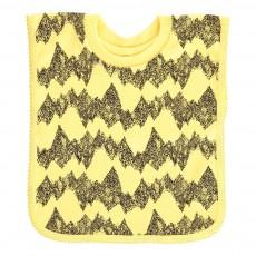 Bavoir montagne encolure t-shirt en jersey de coton Jaune