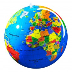 Globe gonflable pays 30 cm Multicolore