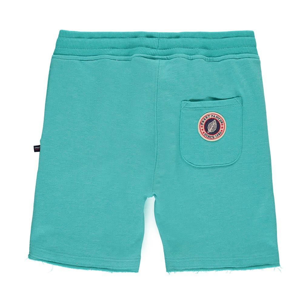 short molleton terry bleu azur sweet pants mode enfant smallable. Black Bedroom Furniture Sets. Home Design Ideas