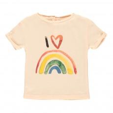 T-shirt Rainbow Bébé Rose poudré