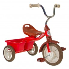 Tricycle avec bacs de transport Rouge