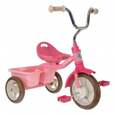 Tricycle avec bacs de transport Rose