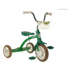 Tricycle avec panier Vert
