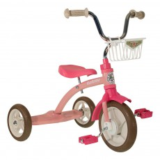 Tricycle avec panier Rose