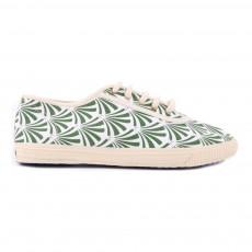 Baskets Art Deco Vert kaki