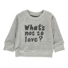 Sweat Eponge Coton Bio What's Not To Love Gris