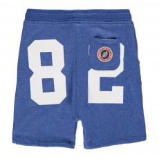Short Loose Molleton Terry 82 Bleu