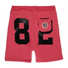 Short Loose Molleton Terry 82 Rouge