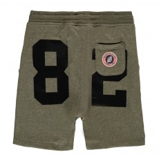 Short Loose Molleton Terry 82 Vert kaki