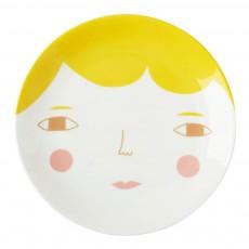 Assiette en céramique visage Multicolore