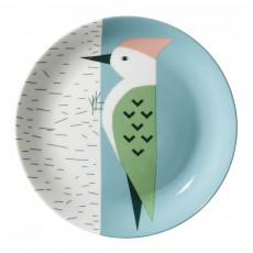Assiette en céramique Pic Vert Multicolore