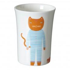Gobelet en céramique chat Blanc