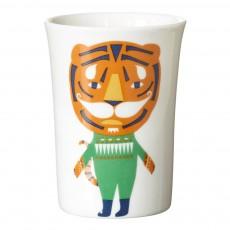 Gobelet en céramique tigre Orange