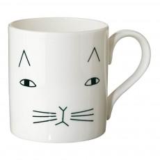 Mug en céramique chat Blanc
