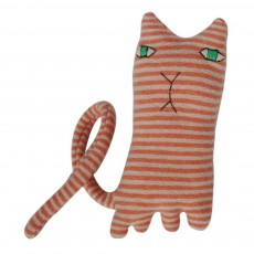 Peluche chat Ginge 24 cm Rose pêche