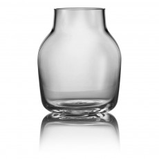 Vase Silent en verre Gris