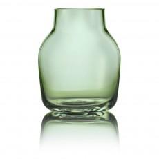 Vase Silent en verre Vert