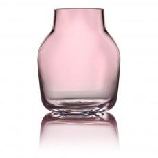 Vase Silent en verre Rose