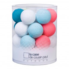Guirlande lumineuse outdoor 24 boules Blue Lagoon Multicolore