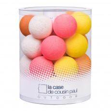 Guirlande lumineuse outdoor 24 boules Maï Taï Multicolore