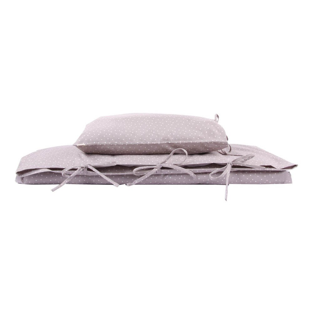 parure de lit gris toi moi meringue gray by essix home collection by parure de lit i fil. Black Bedroom Furniture Sets. Home Design Ideas
