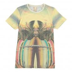 T-shirt Planches Surf Multicolore
