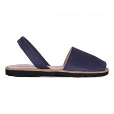 Sandales Nubuck Avarca Bleu nuit
