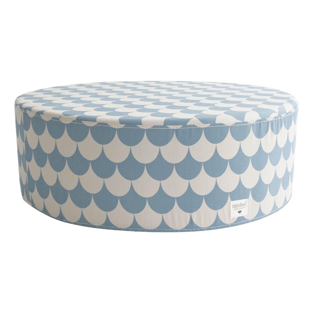pouf soho cailles bleu nobodinoz mobilier smallable. Black Bedroom Furniture Sets. Home Design Ideas