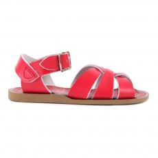 Sandales Waterproof Croisées Cuir Original Rouge